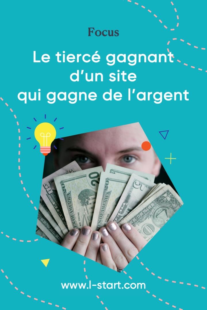 Focus 123 L-start Pinterest Tiercé gagnant d'un site qui vend