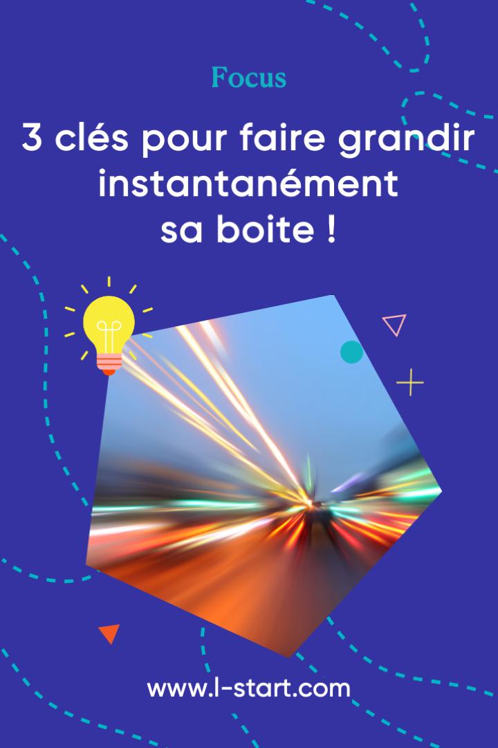 focus140-3-cles-pour-faire-grandir-instantanement-sa-boite par l-start Pinterest