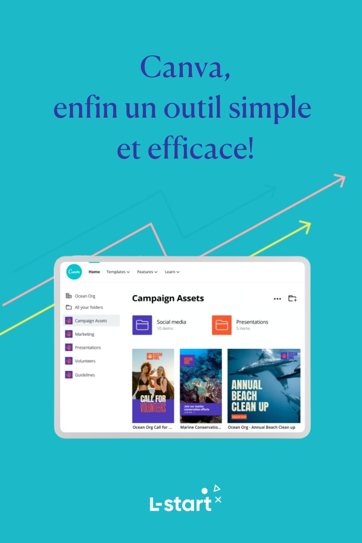 Canva enfin un outil simple et efficace by L-start Pinterest